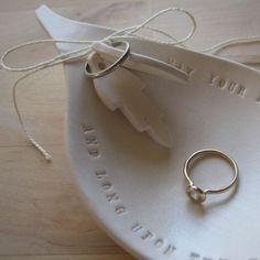 leaf-shaped Ring Bearer Bowl