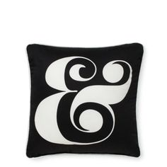 Who doesn't love a good ampersand? Perfect for the chaise in your library. // @Kate Spade New York