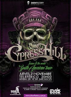 Light it up with Cypress Hill this Thu 11/21 on their first South American tour stop in Quito/Ecuador. Just repin this post for a chance to win 2 tickets!  www.guerillaunion.com