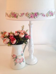 Cross stitch lamp