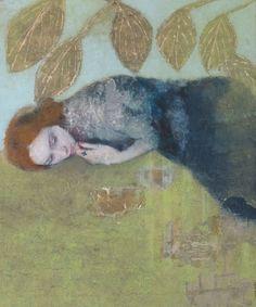 Veronique Paquerau, Chercher le printemps, Gemengde techniek met foto's, 65x54 cm, €.600,-