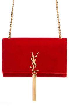 5b39990e1918 Saint Laurent  Medium Kate - Tassel  Velour Crossbody Bag Ysl Crossbody Bag