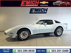 1979 Chevrolet Chevy Corvette Base 52k miles $29,900 52580 miles 303-395-9830  #Chevrolet #Corvette #used #cars #EmichChevrolet #Denver #CO #tapcars