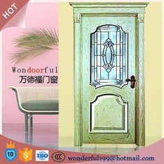 solid wooden main entrance single door design models with door head