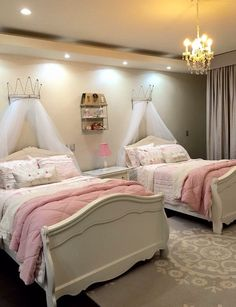 Teen Girl Bedrooms - Interesting yet breathtaking range of teen girl room images. For more enjoyable teen girl room styling info simply press the link to study the post example 2550980841 at once. Twin Girl Bedrooms, Sister Bedroom, Little Girl Rooms, Twin Girls, Twin Bedroom Ideas, Bedroom Kids, Girls Princess Bedroom, Kids Room, Modern Girls Bedrooms