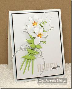 Easter Bunny, Lily Die-namics - Barbara Anders #mftstamps
