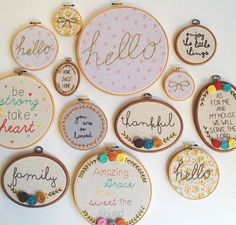 Embroidery hoops. So cute! 57d011f182b9bdacce7790f5b938b2ee.jpg 599×573 pixels