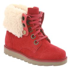 Kay from bearpaw in cranberry