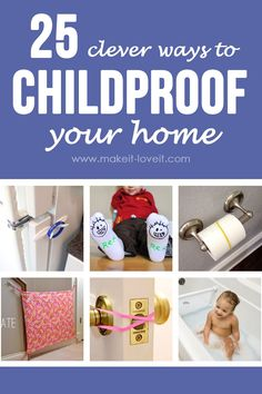 25 Clever Ways to Childproof Your Home (.plus a little update on our table 25 Clever Ways to Childproof Your Home Baby Safety, Child Safety, Safety Tips, Kids And Parenting, Parenting Hacks, Practical Parenting, Toddler Proofing, Baby Proofing Ideas, Home Daycare