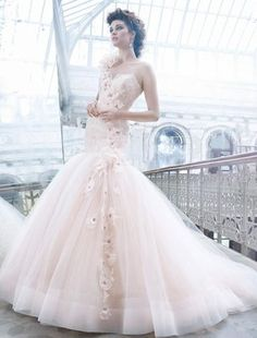 Lazaro - Sweetheart Mermaid Gown in Tulle