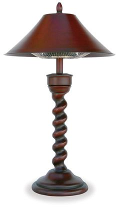 Love this outdoor table top heater.  Plug in to any standard outlet and add instant warmth.