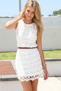 c92f9e2a9bb 70 idées avec la robe blanche dentelle en tendance! Tenue Soirée ...