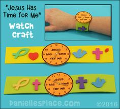 """""""Jesus has time for me"""" Watch Craft from www.daniellesplace.com"""