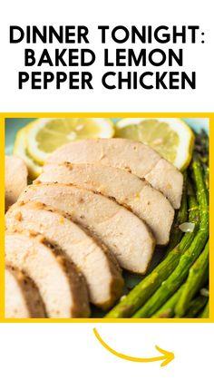 Turkey Recipes, Paleo Recipes, Chicken Recipes, Cooking Recipes, Breakfast Recipes, Dinner Recipes, Paleo Dinner, Baked Lemon Pepper Chicken, Make Ahead Lunches
