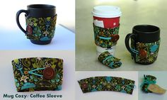 Tutorial for sewing coffee sleeves/mug cozies