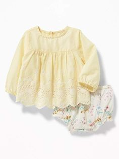 Old Navy Babydoll Blouse & Bloomers Set for Baby