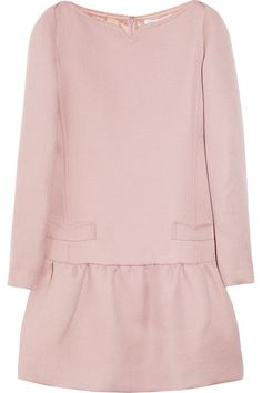 victoria beckham pink wool dress