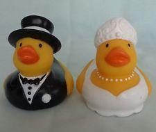 Wedding Love Duckies Rubber Ducks Bride Groom Set cake topper Hirschberg Schutz