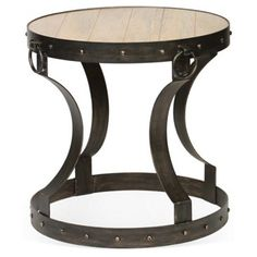 Check out this item at One Kings Lane! Colton Accent Table, Weathered Pewter