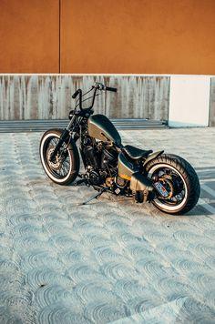 Honda Shadow Bobber, Honda Bobber, Sportster Chopper, Bobber Bikes, Harley Bobber, Harley Bikes, Bobber Motorcycle, Motorcycle Garage, Harley Davidson Bikes