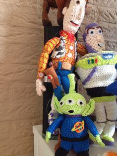 Alien toy story, crochet, by Elise MB