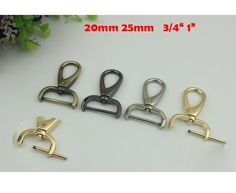 10pcs 19mm Metal Lanyard Snap Hooks Paracord Clasps Keychain Buckle Black Gold