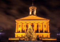 The Tennessee State Capitol Building in Nashville, during Christmas! (via Doug Vaughn)