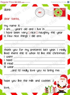 Printable Christmas Gift Wish List plus lots of great Christmas