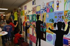 """Great mural idea: """"Art is..."""" to do with middle school kids"""