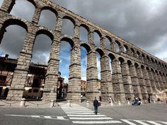 Roman Aqueducts in Segovia, Spain