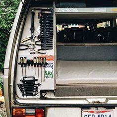 Tool storage on point! #VanCrush Repost from @thenoelleon #vanlife #happymemorialday by van.crush