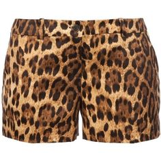 Leopard Print Shorts ❤ liked on Polyvore featuring shorts, bottoms, pants, leopard shorts and leopard print shorts