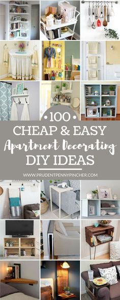All about DIY for cheap? So are we. Get inspo from these 100 ideas for decorating your apartment.