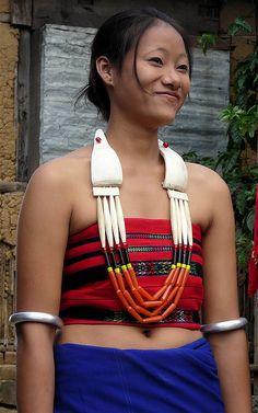 Woman photographed by Rita Willaert in Longsa | Nagaland, India.