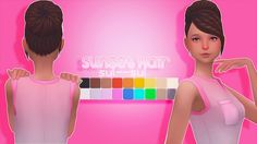 Sunset HairI'm obsessed with the new hairs from city living and it's the beginning of some awesome franken meshes! Expect a lot more in the future with the wide variety of new meshes we got from this pack :) Let me know if there are any problems! Tag...