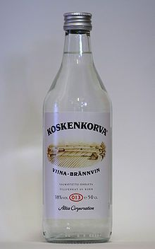 Koskenkorva, most popular vodka in Finland. Named after a village in Southern Bothnia, where it is made. Booze Traveler, Fisherman's Friends, Finnish Language, Scandinavian Countries, Hooch, Getting Drunk, Bar Drinks, Non Alcoholic, Finland