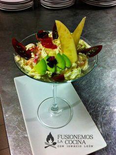 Coctel de marisco con fruta