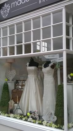Wimbledon Themed Window Display - Tennis - Bridal Boutique - Madeline Isaac-James