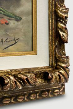 Detailed corner of a carved frame with antique finish. Old Maps, Antique Maps, Antique Prints, Double Glass, This Is Us Quotes, Frame It, Online Gallery, Shadow Box, Custom Framing