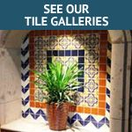 Use Mexican tile to bring beauty, warmth and charm to your kitchen countertops, walls and backsplashes. Saltiloo paver flooring, Mexican tile murals, cabinet knobs,