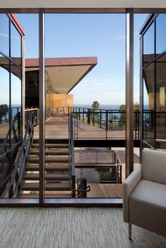 MALIBU PRESBYTERIAN CHURCH | ocean view. copper roof. stone-clad exterior. levels of views.