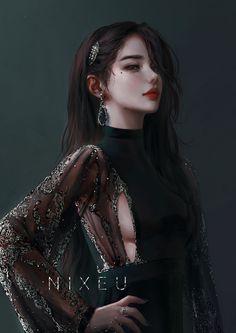 Fantasy Art Women, Beautiful Fantasy Art, Dark Fantasy Art, Fantasy Girl, Fantasy Artwork, Fantasy Queen, Fantasy Character Design, Character Inspiration, Character Art