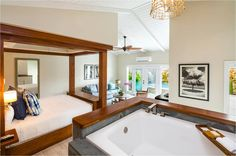 Honeymoon suite with private pool at Serenity at Coconut Bay Resort in St Lucia.