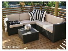 Patio Outdoor Sectional, Sectional Sofa, Outdoor Furniture, Outdoor Decor, Patio, Home Decor, Modular Couch, Decoration Home, Room Decor