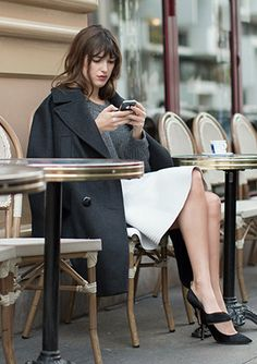 Parisian blogger and It Girl Jeanne Damas and her impeccable style. http://www.whowhatwear.com/editors-city-guide-paris-france-2015                                                                                                                                                                                 More