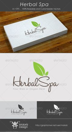Herbal Spa - Logo Design Template Vector #logotype Download it here: http://graphicriver.net/item/herbal-spa-logo-template/2831515?s_rank=176?ref=nesto