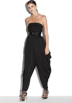Milly Strapless Isosceles Jumpsuit in Black