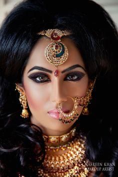 Super bridal makeup asian bollywood Ideas Super Braut Make-up asiatischen Bollywood-Ideen Arabic Makeup, Indian Makeup, Indian Beauty, Bridal Makeup, Wedding Makeup, Color Correcting Concealer, Makeup Portfolio, Zeina, Beauty And Fashion