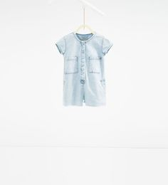 Image 1 of Denim jumpsuit with pockets from Zara