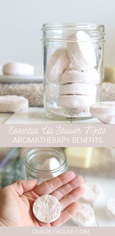Essential Oil Shower Melts Recipe Essential oil shower melt recipe with aromatherapy benefits. Use these shower melts before bed to wind down and promote a healthy night sleep. Juniper Berry Essential Oil, Chamomile Essential Oil, Lemon Essential Oils, Essential Oil Blends, Healthy Nights, Aromatherapy Benefits, Aromatherapy Products, Savon Soap, Organic Skin Care